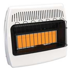 GHP Group IR30DTFDG-1 Dyna Glo 30k Btu Infrared Vent Free Dual Fuel Infrared Wall Heater