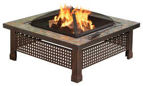 GHP Group OFW104SC-1 Fire Pit Bradford Slate Rubbed Bronze Finish