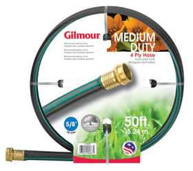 Gilmour 14-58050 Outdoor Hose 5/8x50 ft 4ply Rubber/Vinyl