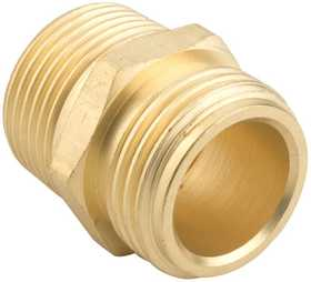 Gilmour 7MH7MP5P 3/4-Inch X 3/4-Inch X 1/2-Inch Brass Double Male Hose Connector