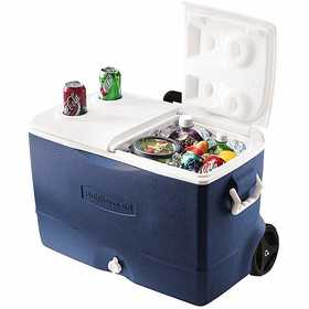Rubbermaid FG2A9202MODBL 50 Qt Extreme Wheeled Cooler