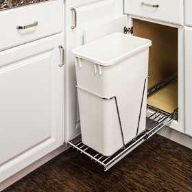 HARDWARE RESOURCES CAN-EBMSPC-R 35 & 50 Qt Single Pullout Trash Can System