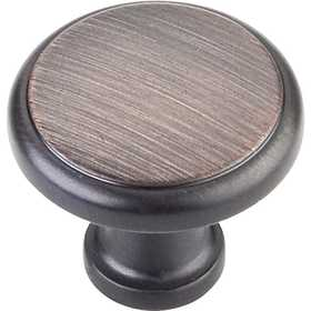 HARDWARE RESOURCES 3970-DBAC Gatsby Oil Rubbed Bronze Knob 1-1/8 in