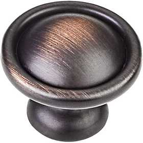 HARDWARE RESOURCES 878DBAC Windermere Oil Rubbed Bronze Cabinet Knob 1-3/16 in