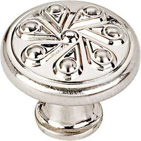 HARDWARE RESOURCES 323SN Luxe Satin Nickel Cabinet Knob 1-3/16 in