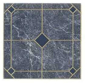 Heart Of America 60603 ULTRA Ultrashine 12x12 in Laid Blue Marble Vinyl Tile Carton Of 45