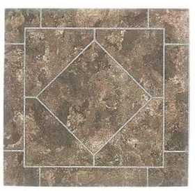Heart Of America YS673-6 ULTRA Ultrashine12x12 Rustic Brown Diamond Vinyl Tile Carton Of 45