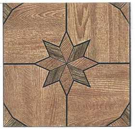 Heart Of America 32109 ULTRA Ultrashine 12x12 Starburst Wood Vinyl Tile Individual Tile