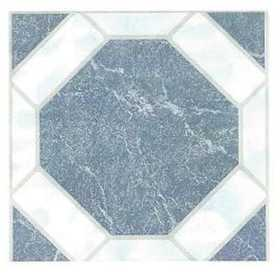 Heart Of America 02082B ULTRA Ultrashine 12x12 Blue Octagon Vinyl Tile Individual Tile