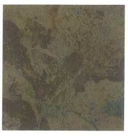 Heart Of America CL1110EVERSHINE Evershine 12x12 Rustic Brown/Teal Vinyl Tile Individual Tile