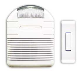 Heath SL-6144 Chime Strobe White Battery Operated