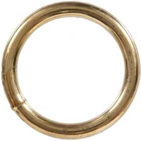 Hillman 321704 Brass Plated Welded Ring .262x2 Fg