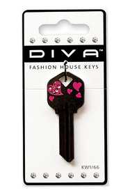 Hillman 87039 Diva - Tail Heart Black Key