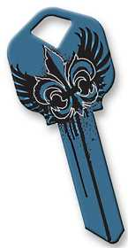 Hillman 87391 Goth Blue Wings Key Blank