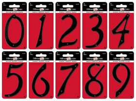 Hillman 841622 #3 - 4 in Black Die-Cast Aluminum Numbers