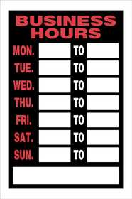 Hillman 839888 Business Hours Sign 8x12