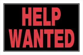 Hillman 839894 Help Wanted Sign 8x12