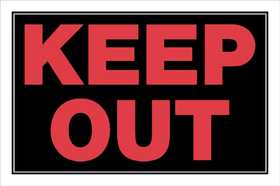 Hillman 839898 Keep Out Sign 8x12