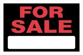 Hillman 839928 For Sale Sign 8x12
