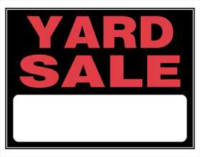 Hillman 840044 Yard Sale Sign 15x19