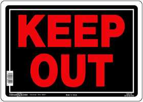 Hillman 840139 Keep Out! Sign 10x14