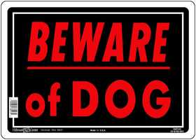 Hillman 840143 Beware Of Dog Sign 10x14