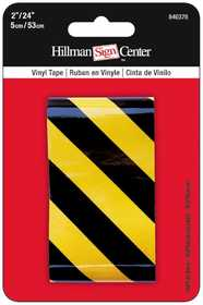 Hillman 840378 Reflective Tape 24x2 Black/Yellow