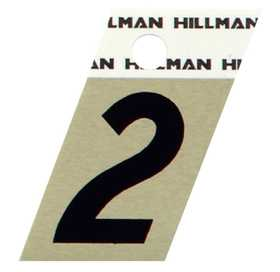 Hillman 840478 #2 - 1-1/2 in Black On Gold Angle-Cut Aluminum