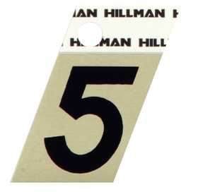 Hillman 840484 #5 - 1-1/2 in Black On Gold Angle-Cut Aluminum