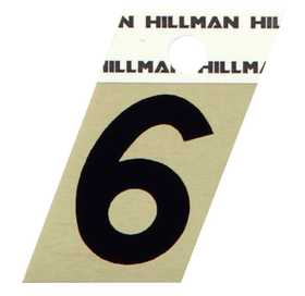 Hillman 840486 #6 - 1-1/2 in Black On Gold Angle-Cut Aluminum
