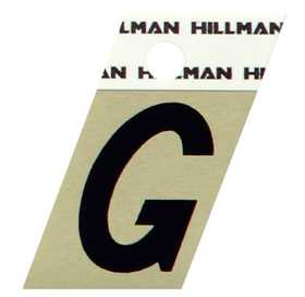 Hillman 840506 G - 1-1/2 in Black On Gold Angle-Cut Aluminum