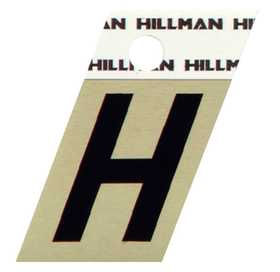 Hillman 840508 H - 1-1/2 in Black On Gold Angle-Cut Aluminum