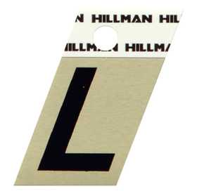 Hillman 840516 L - 1-1/2 in Black On Gold Angle-Cut Aluminum