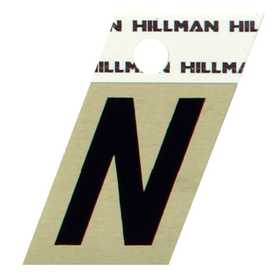 Hillman 840520 N - 1-1/2 in Black On Gold Angle-Cut Aluminum