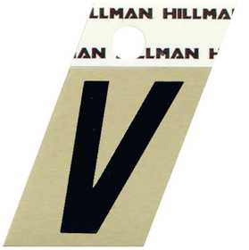 Hillman 840536 V - 1-1/2 in Black On Gold Angle-Cut Aluminum