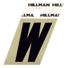 Hillman 840538 W - 1-1/2 in Black On Gold Angle-Cut Aluminum
