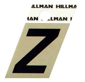 Hillman 840544 Z - 1-1/2 in Black On Gold Angle-Cut Aluminum