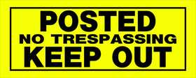 Hillman 841800 Posted No Trespassing Keep Out Sign 6x15