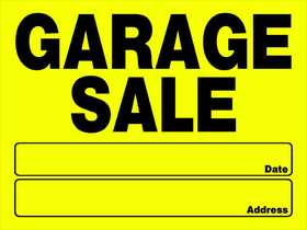 Hillman 842096 Garage Sale Sign 12x16