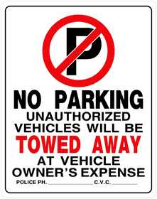 Hillman 842196 No Parking Sign 19x15