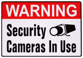 Hillman 843336 Warning Security Cameras In Use Sign 4x5