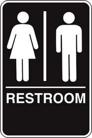 Hillman 844149 Ada Braille Restroom Sign 6x9