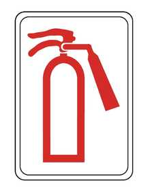 Hillman 848739 Fire Exstinguisher Sign 5x7