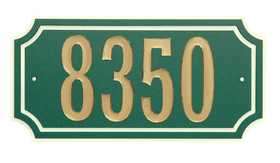 Hillman 848895 Scalloped Address Plaque Green With Cr&egraveme Trim
