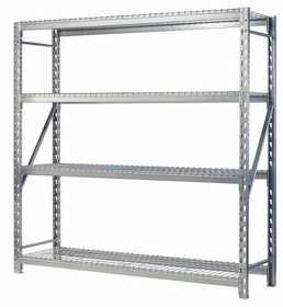 Edsal Hom-e-quip ER842484W4 Heavy Duty 4 Shelf Muscle Rack 24x84x84