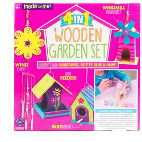 HORIZON GROUP 30415D 4 in 1 Wooden Garden Set