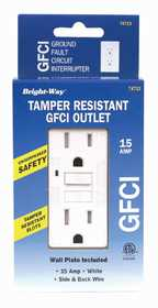 Howard Berger 74713 Tamper Resistant GFCI 15amp White Safety Outlet