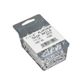 Amerimax 77090PK 1-1/4 In White Aluminum Trim Nails 1/4#