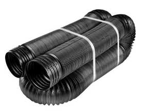 Amerimax 52002 4 In X 50 Ft Black Perforated Flex Drain Pipe