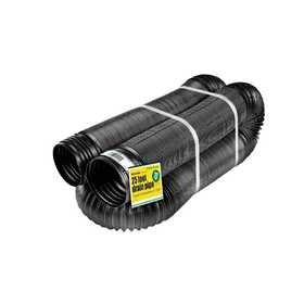 Amerimax 51310 4 In X 25 Ft Black Perforated Flex Drain Pipe